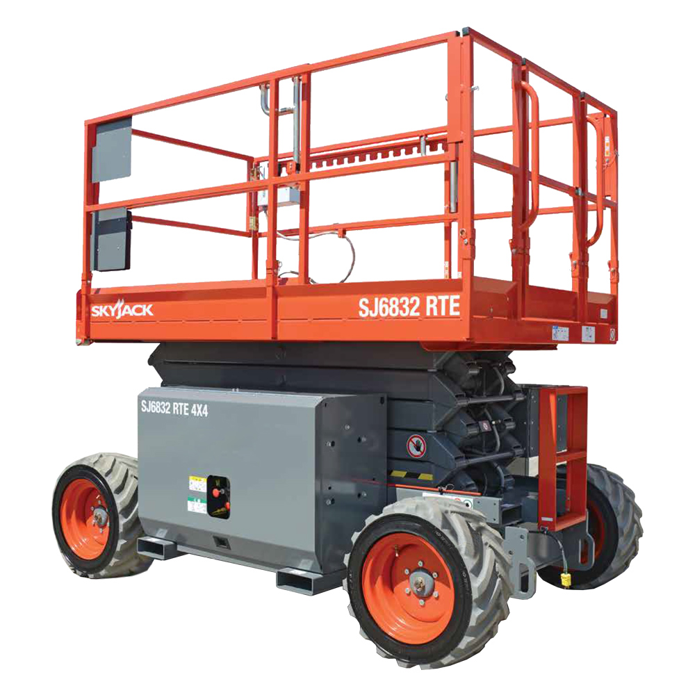 32' Diesel Rough Terrain Scissor Lift - Miami Tool Rental